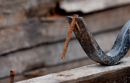 Sustainable reclaimed wood nails