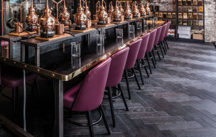Manchester Gin Distillery showing Woodworks by Ted Todd Herringbone Floor